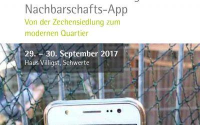"""Tagung: """"Zwischen Taubenschlag und Nachbarschafts-App: Von der Zechensiedlung zum modernen Quartier"""""""