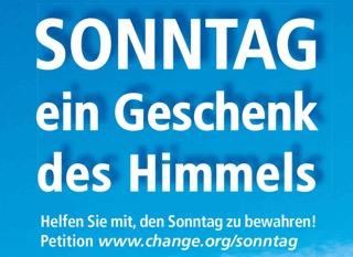 "Petition: ""Der Sonntag muss frei bleiben!"""