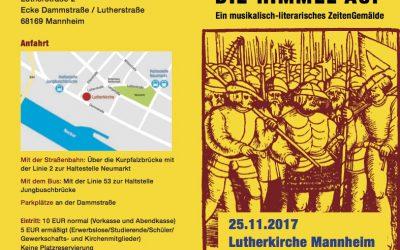 KultureventReformation, 25.11.2017, Mannheim