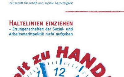 """""""Haltelinien einziehen – Errungenschaften der Sozial- und Arbeitsmarktpolitik nicht aufgeben"""""""
