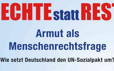 Hearing: Armut als Menschenrechtsfrage, 25. März 2020, Ev. Mathildensaal in München