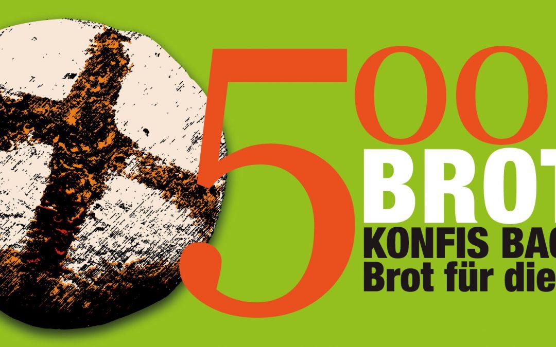 """Aufruf zum Mitmachen bei der karitativen Aktion """"5000 Brote – Konfis backen Brot für die Welt"""""""