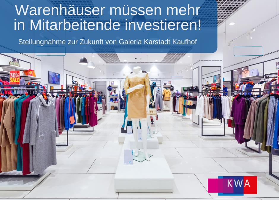 """Pressemitteilung: """"Der Schatz von Galeria Karstadt Kaufhof sind die Beschäftigten!"""""""