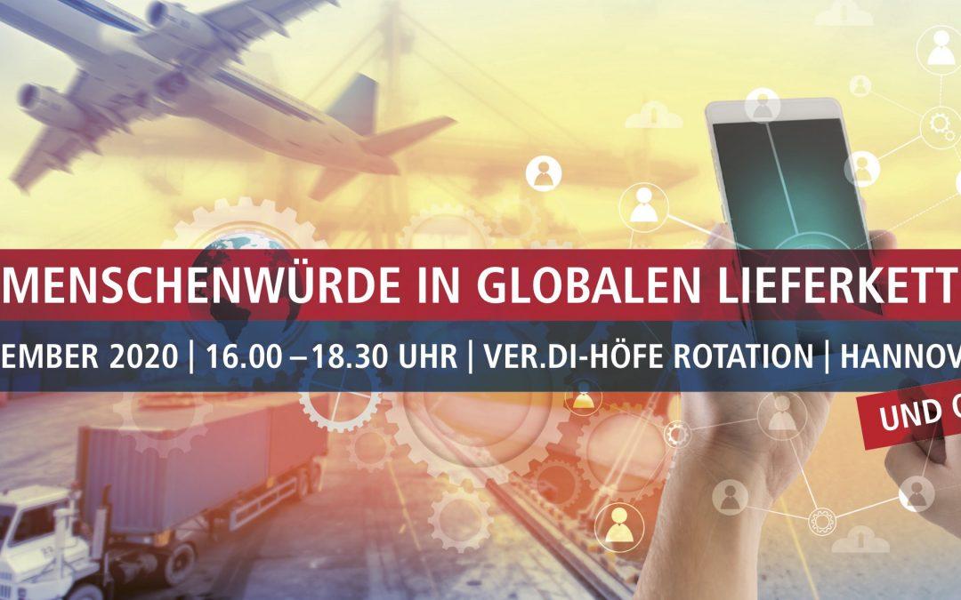 ABGESAGT – Menschenwürde in Globalen Lieferketten – 11. November 2020 von 16.00 – 18.30 Uhr