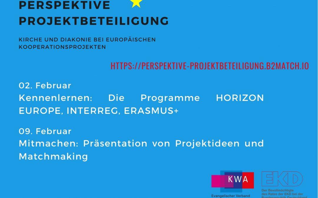 Einladung zur Matchmaking-Veranstaltung:  Perspektive Projektbeteiligung –Kirche und Diakonie bei europäischen Kooperationsprojekten