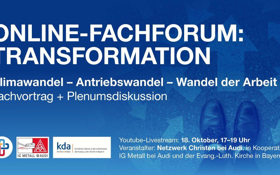 ONLINE-Fachforum: Transformation